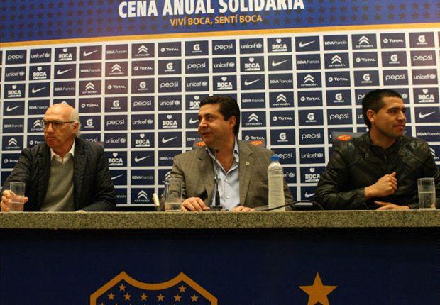 Angelici y Román, con Bianchi. ¿Seguirán los tres?