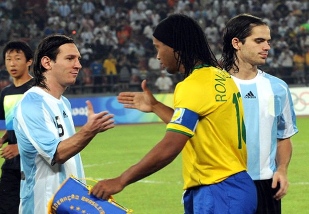 Messi reveals Ronaldinho debt