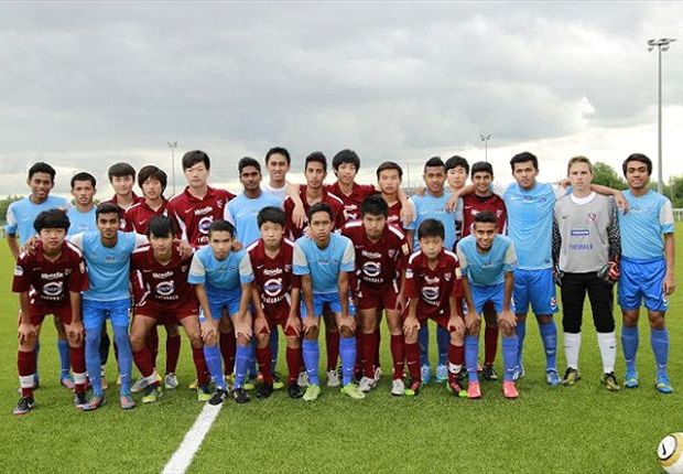 The NFA U17s with the FC Metz International Football Academy (Photo: FAS)