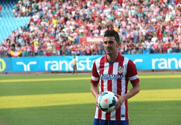 David Villa se mostró muy ilusionado en su presentación en el Atlético de Madrid