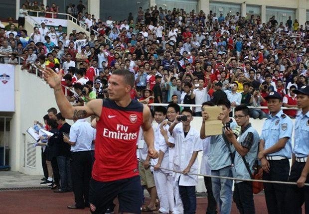 Lukas Podolski will die Fans von Arsenal glücklich machen