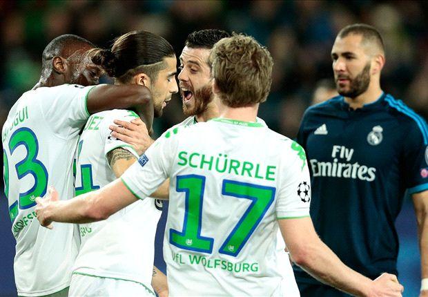 Wolfsburg 2-0 Real Madrid: Zidane's men shocked by battling hosts