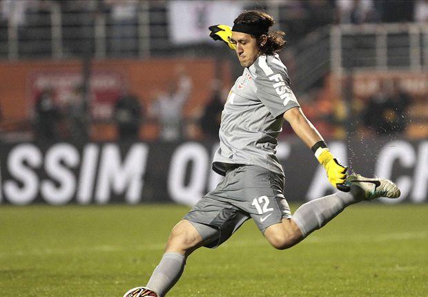 Com boas defesas do goleiro, o Corinthians empatou fora de casa