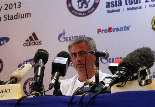 Jose Mourinho bei einer Pressekonferenz des FC Chelsea