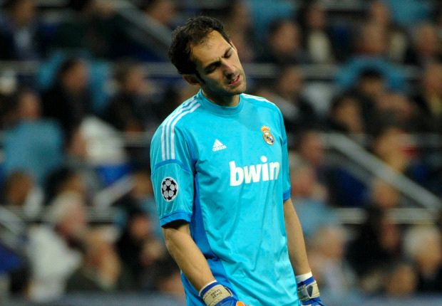 Diego Lopez zag dat Real het lastig kreeg tegen Vallecano