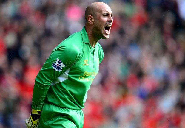 Rodgers: Reina unlikely to return to Liverpool