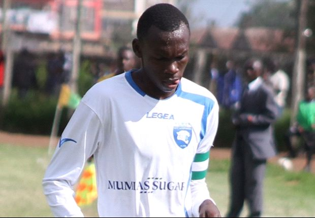 AFC Leopards' captain Martin Imbalambala in a past league match.