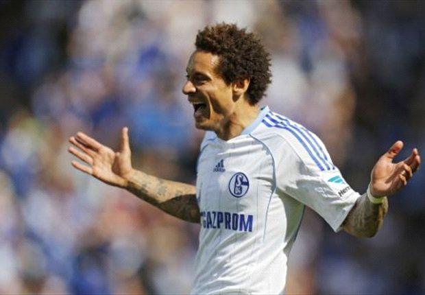 Schalke 04: Jermaine Jones mit voller Konzentration auf das Spiel gegen den Hamburger SV