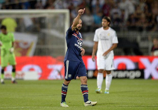 Lisandro Lopez steuerte beim 2:2 gegen Real ein Tor für Lyon bei