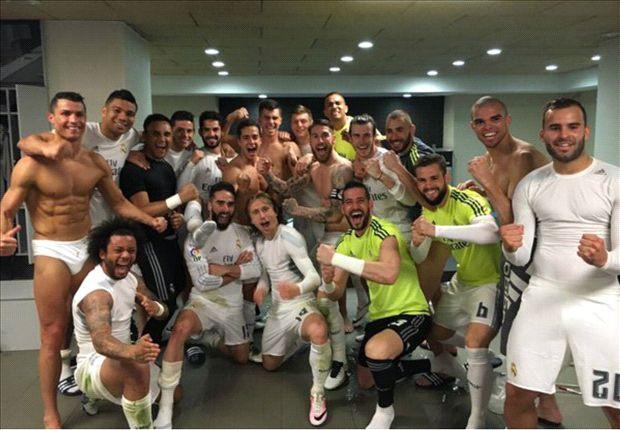 Image result for real madrid team celebration dressing room