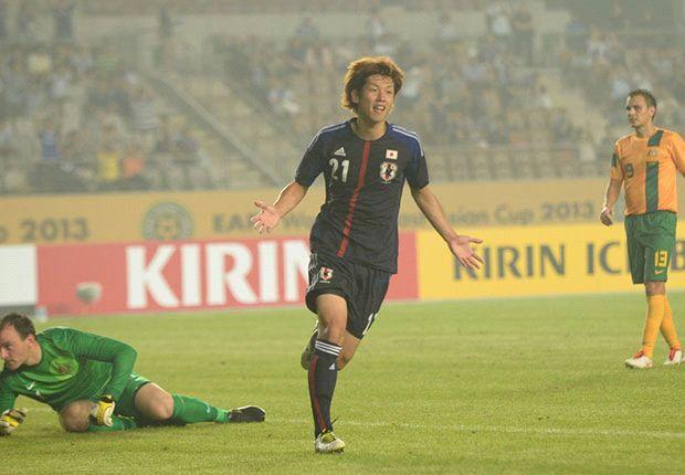 Match-winner Yuya Osako celebrates
