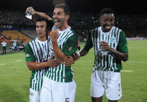 Atlético Nacional le arrebató la victoria a Huila y sigue con paso firme (2-3)
