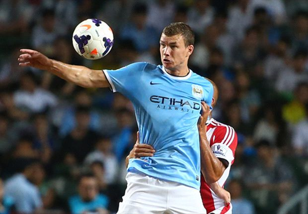 Dzeko positive on Manchester City's Asia trip, despite Nastasic injury
