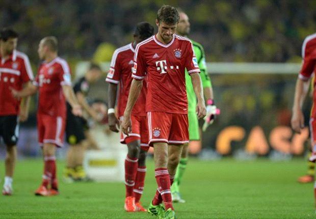 Bayern Münchens Thomas Müller nach der Niederlage gegen Borussia Dortmund