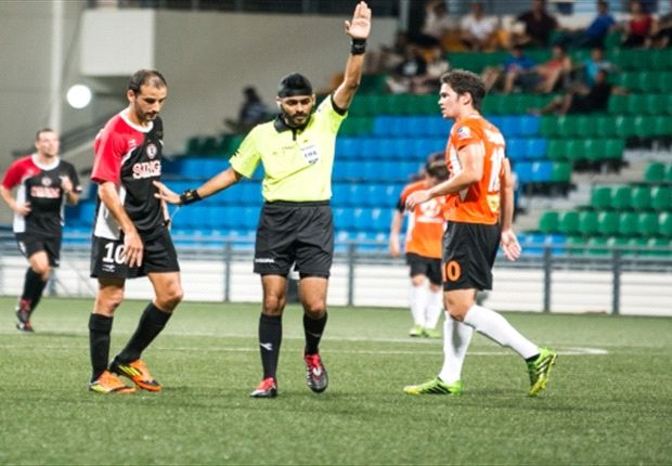 The controversial referee sent off two Loyola Sparks players against Tanjong Pagar