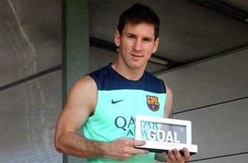 Lionel Messi wins Goal 50