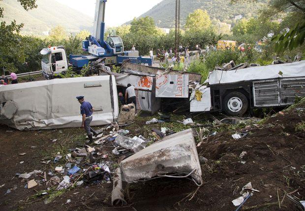 Tragic Avellino coach crash cancels Napoli celebration