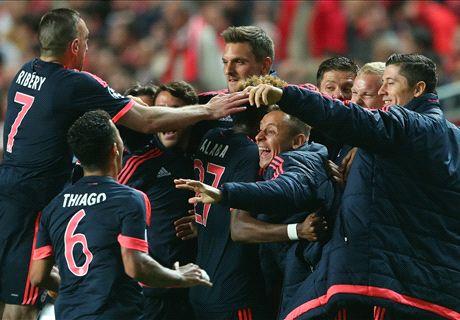 Ratings: Benfica 2-2 Bayern (2-3 agg.)