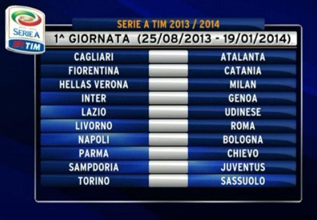 Se conoció el fixture de la temporada 2013-2014 de la Serie A