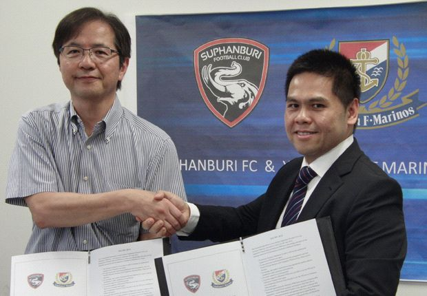 Yokohama F. Marinos and Suphanburi FC have inked a formal partnership
