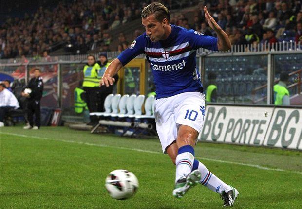Maxi López jugó en Sampdoria en la temporada 2012/13