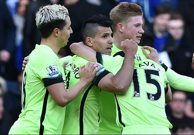 Chelsea 0-3 Manchester City: Aguero hits hat-trick as Courtois sees red