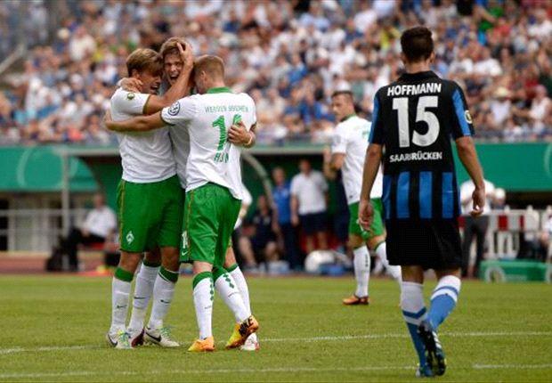 Im DFB-Pokal bejubelte Werder zwar einen Treffer, musste sich dann aber aus dem Pokal verabschieden