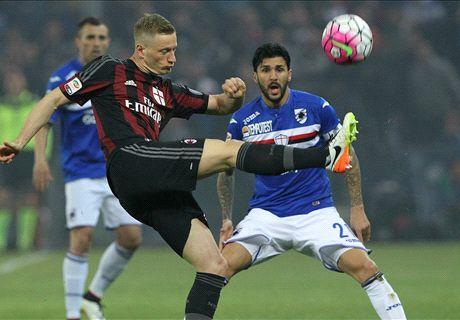 RATINGS: Bacca strike sinks Sampdoria