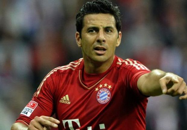 Pizarro, jugador del Bayern
