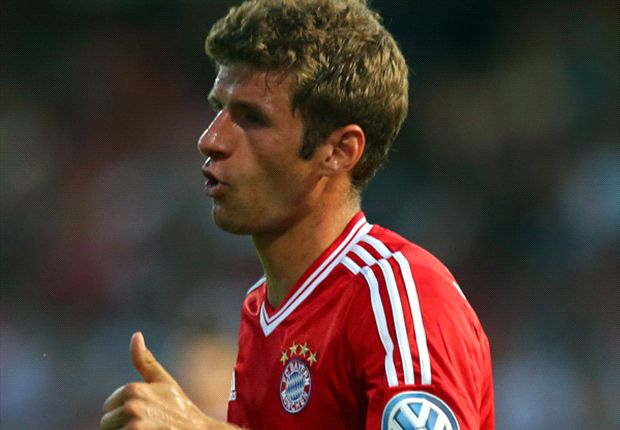 Muller delighted with hat-trick in Bayern rout