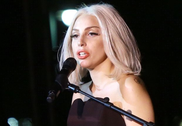Lady Gaga (pictured) now shares a record label with Katia Aveiro