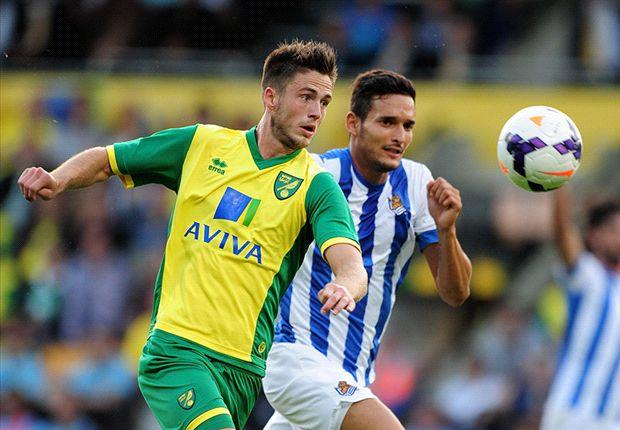 Norwich City 1-1 Real Sociedad: Vela cancels out Van Wolfswinkel opener