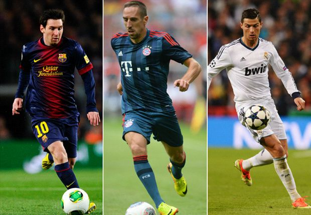 Messi, Ribery & Ronaldo on 23-man Ballon d'Or shortlist