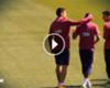 ► El gestito de Suárez con Neymar