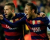 Fuerte enfrentamiento entre Neymar y Jordi Alba en pleno partido