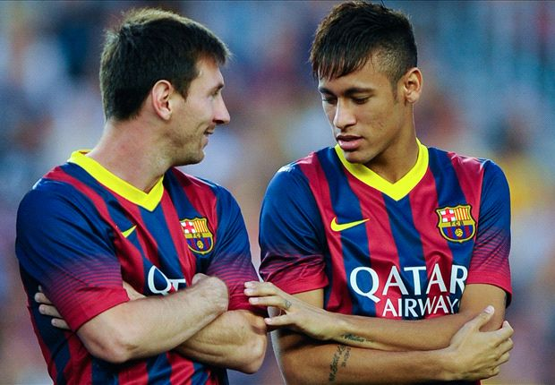 Neymar pays homage to Barcelona team-mate Messi