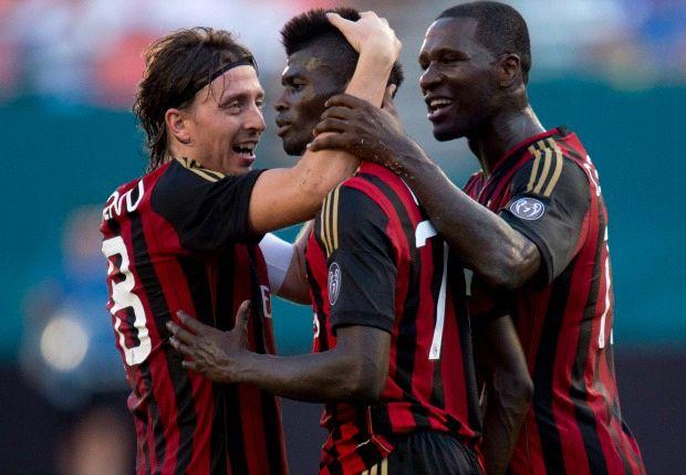 Un'esultanza del Milan