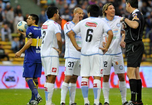 Carlos Maglio, el árbitro de Belgrano-Boca.