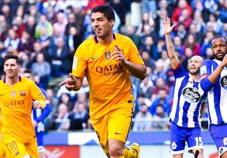 Deportivo 0-8 Barcelona: Suarez on fire