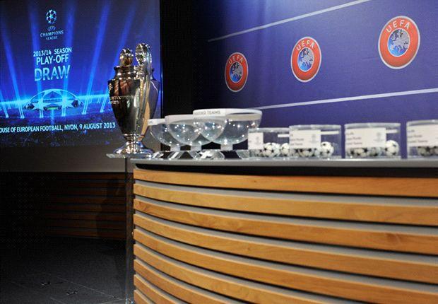 Drawing babak play-off Liga Champions yang berlangsung di Nyon, Swiss, Jumat [9/8] sore