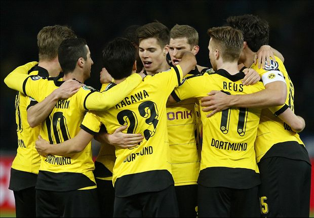 Hertha Berlin 0-3 Borussia Dortmund: Castro, Reus & Mkhitaryan set up Bayern final