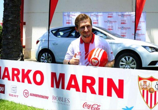 Bei seinem neuen Klub angekommen - Sevillas Marko Marin