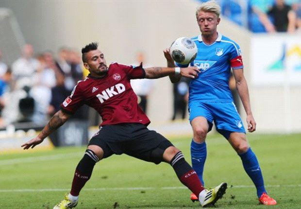 Kein Sieger bei Hoffenheim gegen Nürnberg