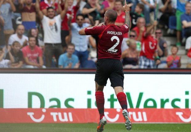 Leon Andreasen brachte Hannover 96 gegen den VfL Wolfsburg auf die Siegerstraße
