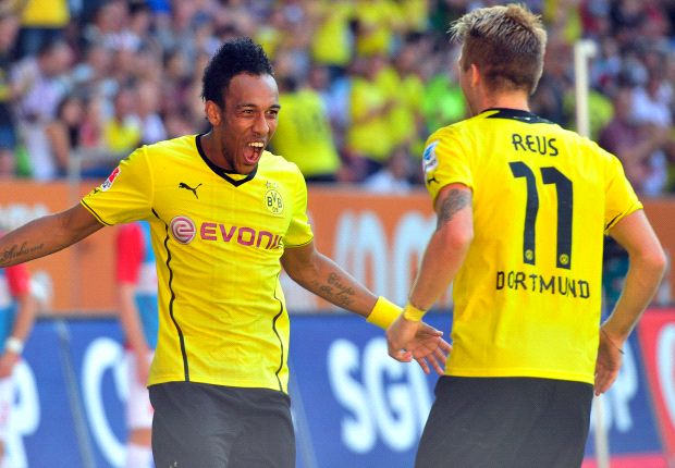 Augsburg 0-4 Borussia Dortmund: Aubameyang hits hat trick on dream Bundesliga debut