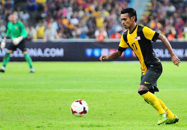 Amri Yahyah displayed an excellent work rate against Barcelona.