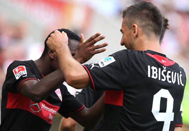 Vedad Ibisevic vom VfB Stuttgart will auch gegen Rijeka einen Treffer beisteuern