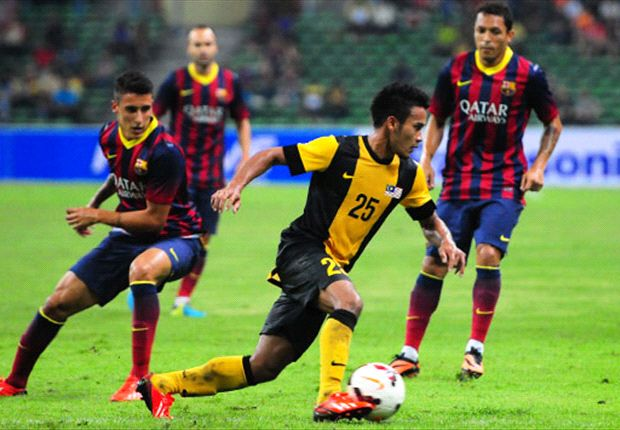 Malaysia put up one of their best performaces against Barca in recent months.