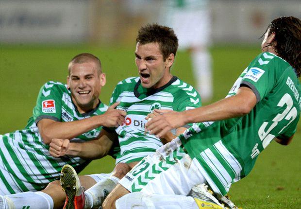 2. Bundesliga: Fürth jetzt Tabellenzweiter - Pleite für KSC, Punkt für Dresden