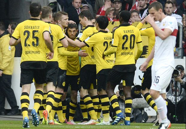 Stuttgart 0-3 Borussia Dortmund: Tuchel's men keep Bayern waiting